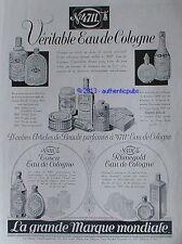 PUBLICITE 4711 EAU DE COLOGNE PARFUM CREME TOSCA RHINEGOLD DE 1932 FRENCH AD PUB