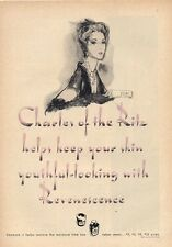 1952 Charles of the Ritz PRINT AD features: Illustrated Woman Revenescence