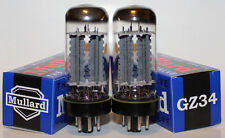 Matched Pairs, Mullard GZ34 / 5AR4 rectifier tubes, brand NEW, Reissue !!!