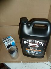 HARLEY DAVIDSON GALLON OF OIL'  AND CHROME FILTER FOR TWIN CAM 1999 TO 2017