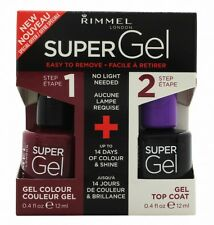 RIMMEL SUPER GEL GIFT SET 12ML NAIL POLISH IN 025 URBAN PURPLE + 12ML TOP COAT