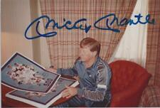 MICKEY MANTLE Signed Autograph Candid Signing 4x6 Picture  Baseball PSA LOA