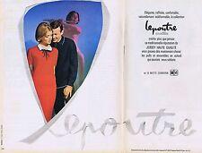 PUBLICITE ADVERTISING 015 1965 LEPOUTRE vêtement pour homme et femme (2 pages)