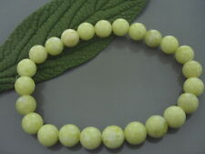 Trendiges 8 mm Perlen Armband Bracelet gelbe Lemon Phönix Jade 19,5 cm