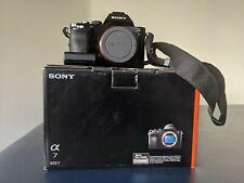 Sony Alpha A7 24.3 MP Digital Camera (Body Only), Black, shutter count: 21146