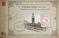 2013 AUSTRALIA STAMP MINI SHEET 'CENTENARY OF KANGAROO & MAP'  MNH