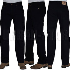 New Mens Straight Leg Regular Fit Plain Denim Jeans All Waist & Sizes