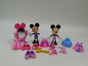 Disney Minnie Mouse Bowtique Dress Up Snap On Clothes Accessories Lot a0303