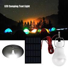 Energía Portátil Solar Panel Bombilla LED Lámpara de luz de Tienda campamento al aire libre blanca de 5V 20W