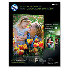 HP Everyday Photo Paper Glossy 8-1/2 x 11 50 Sheets/Pack Q8723A