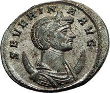 SEVERINA Aurelian wife 274AD Rome Authentic Ancient Roman Coin CONCORDIA i65430