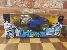 Muscle Machines '32 Ford Roadster Blue 1:18 Scale Diecast 1932 Hot Rod Coupe Car