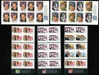 5 x TV STAMPS AUSTRALIA Dame Edna Kath Kim MINT ADHESIVE BOOKLETS FACE VALUE $25