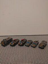 Military Micro Machines Lot Black/Brown/Gray Camo Lot of 6 BRDM HMV APV