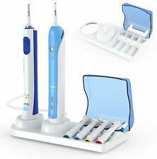 Base sostegno Porta spazzolino elettrico testine caricatore compatibile oral B