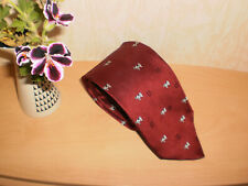 McEarl Original 100% Silk Tie-Red- Black & White Cow Design -Dairy Farmer Gift.