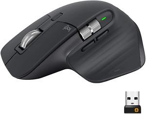 Logitech MX Master 3 Mouse Wireless Avanzato, Ricevitore Bluetooth o USB 2.4 GHz