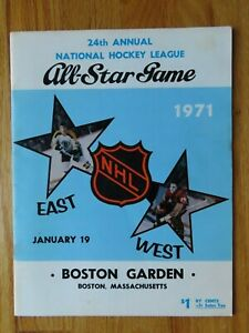 1971 ALL STAR Hockey Game Boston Garden Program BOBBY HULL MVP ORR PHIL ESPOSITO