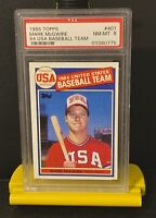 1985 Topps USA Baseball Mark McGwire Rookie #401 NM-MT PSA 8 Benefits Charity!❤️