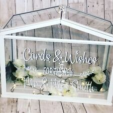 Personalised Wedding Post Box Vinyl Only Perfect For Ikea Socker Greenhouse