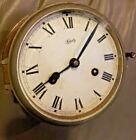Vtg SCHATZ Germany Brass Nautical Maritime Wind Up Ships Clock - Untested