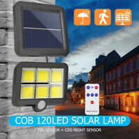 120 Lampe Solaire LED avec Détecteur de Mouvement Extérieur Projecteur
