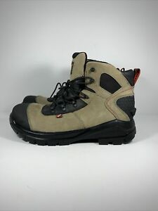 Red Wing Mens Size 11.5 CRV 6 In Leather EH Safety Toe Work Boots Beige Tan 4426