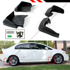 FRONT+ REAR MUD FLAPS SPLASH GUARD FOR 2006-11 8TH GEN HONDA CIVIC FA 4DR SEDAN