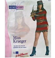 Miss Freddy Krueger Halloween Costume Dress Glove Hat Nightmare On Elm Street