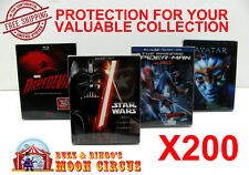 200x BLU-RAY WITH SLIPCOVER (SIZE B)- CLEAR PROTECTIVE BOX PROTECTOR SLEEVE CASE