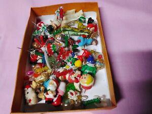 Vintage Lot Christmas mini ~Santas~Angels~Trees, on stick pins