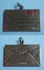 Vintage enamel SWAK letter envelope Sealed With a Kiss sterling charm