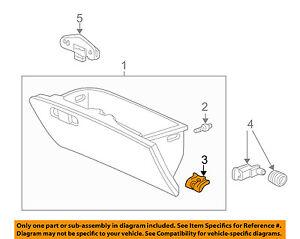 HONDA OEM INSTRUMENT PANEL-Glove Box Assembly Stay 66405S04010