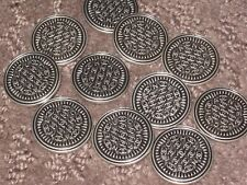 CHANEL 11 BUTTONS  SILVER FULL OF CC LOGO 20 MM/ UNDER 1''  NEW LOT 11  FLAWLESS