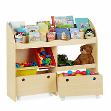 Kinderregal für Spielzeug Aufbewahrung Spielzeugregal MDF Boxenregal Standregal