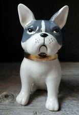 Anthropologie Chien French Bulldog Dog Spice Jar or Trinket Box Ceramic Retired