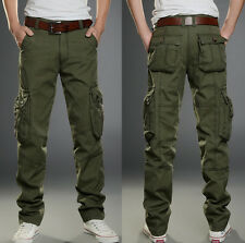 Womens Trousers Military Cargo Pocket Pants Leisure Army Green Casual Outdoor