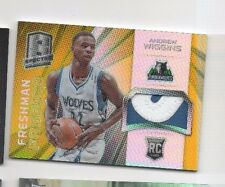 2014-15  Spectra ANDREW WIGGINS Jersey Patch Gold REFRACTOR /10 RC