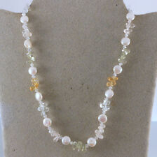 "18"" FRESH WATER PEARL STERLING SILVER NECKLACE"