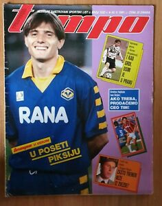 Magazine TEMPO 1332 football Dragan Stojkovic cover Marco Van Basten poster 1991