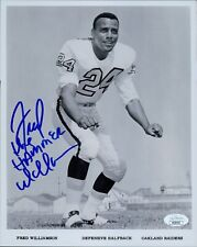 Fred The Hammer Williamson Oakland Raiders Signed 8x10 Photo JSA Authenticated