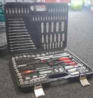 Durable 216PCS Socket Set&Screwdriver Bit Driver Tool Kit 4 Car/Van/Truck Motor