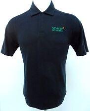 PATAGONIA Polo M Black MEDIUM Men SZ Size ORGANIC Cotton BLEND Snap METAL Button