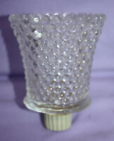 4 HOMECO Clear Votive Candle Holders w/ Pegs 4 ~ Diamond Point ~ In Original Box