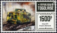WWI German Empire / Army A7V Heavy Tank Stamp (2016 Togo)