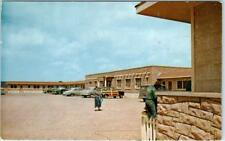 WINDOW ROCK LODGE, Arizona  AZ    Roadside  Woodie Woody Wagon  c1950s  Postcard