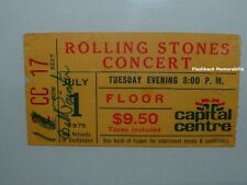 ROLLING STONES 1975 Concert Ticket Stub CAPITAL CENTRE LANDOVER Mega Rare D.C.