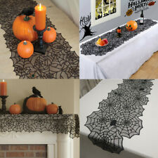Lace Spiderweb Halloween Party Tablecloth Table Runner Cover Home Decoration New