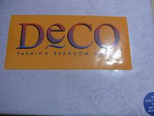 Double Quilt Cover Set Floral Jacquard Deco by Linen House Mauve