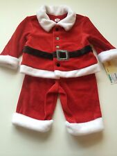 Cherokee Boys Santa Suit Top Pants Christmas Holiday Size 3 Months